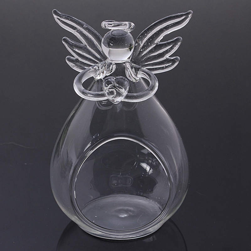 <font><b>Elegant</b></font> Angel Crystal Glass Candle Holder Hanging TeaLight Candlestick Clear Wedding Table Christmas <font><b>Home</b></font> <font><b>Decor</b></font> Friend Gift