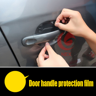 Door handle protection film Car Accessories for Nissan X-Trail Qashqai for ford focus 2 for ford focus 3 Mitsubishi ASX LANCER(China (Mainland))