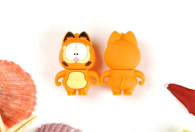 100% real capacity lovely cartoon Garfield cat 4GB 8GB 16GB 32GBUSB 2.0 Flash Drive pendrive thumb Car Key Memory Card  AA(China (Mainland))