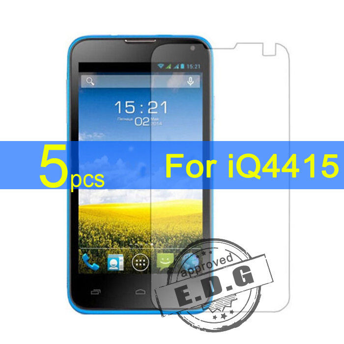 5pcs Ultra Clear LCD Screen Protector Film Cover For Fly iQ4415 Protective Film  cloth free