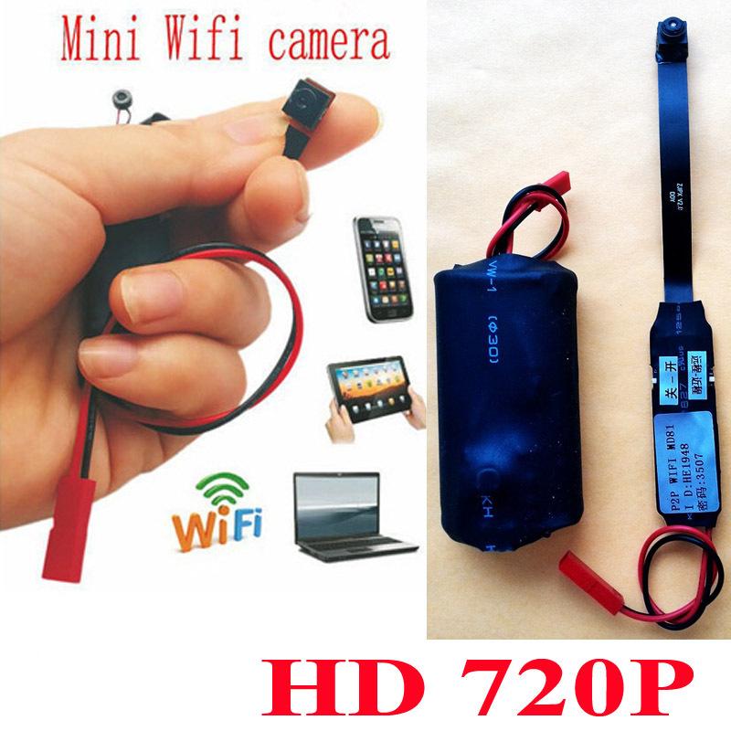 Mini Cam Wireless Spy WIFI Camera IP P2P Camcorder CCTV Camera Hidden HD 720P Mini covert Video Camera Free Shipping(China (Mainland))