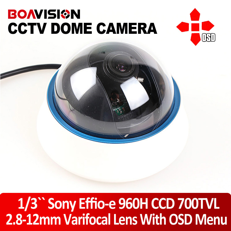 Genuine Effio-e 700TVL 960H Security CCD CCTV Camera 2.8-12mm Varifocal Lens Indoor Dome OSD Control - Shenzhen Boavision Technology Co.,LTD store