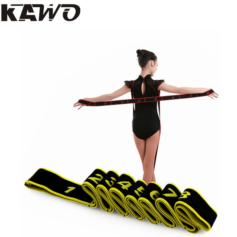 90x4cm Children Latin Elastic Band Girls Yoga Tension Belt Adult Practice Girdle Dance Training With Correct fitness tools(China (Mainland))