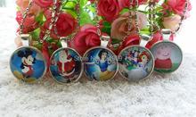 10pcs/lot Child Girls princess Santa Claus  sofia Snow White princess mickey Pendant Necklace Fashion Jewelry charm(China (Mainland))
