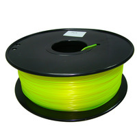 Yellow color 3D Printer Filaments HIPS 1.75mm/3mm net weight 1kg plastic Rubber Consumables Material MakerBot/RepRap/UP/Mendel