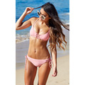Halter Bikini Set Push Up Brazilian Sexy Bandage Beach Swimwear Ladies Women Swimsuit Hollow Bathing Suit