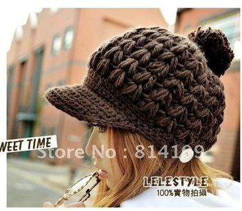 Trendy French Special Knitting Berets Hats Winter Warm Hot rasberry Berret Fashion peaked cap
