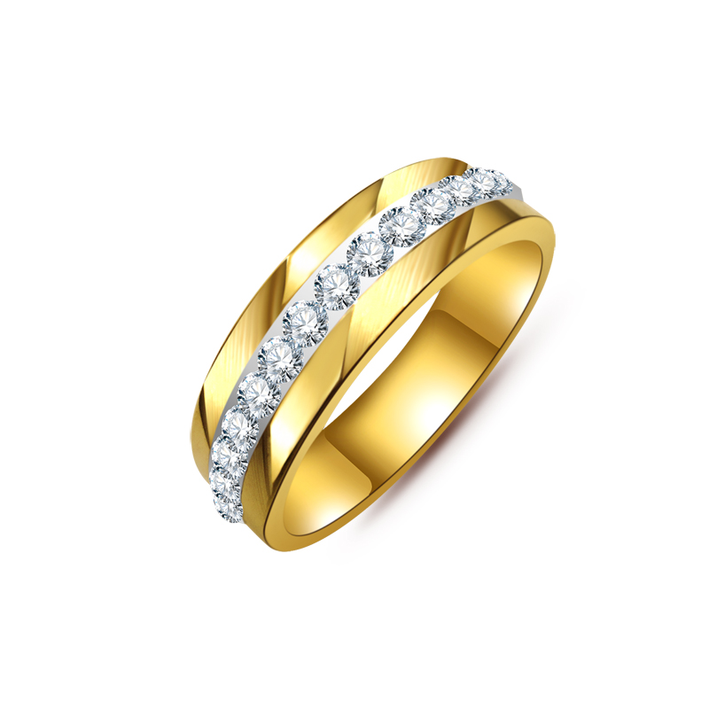 Gold Couple Classic Engagement Wedding Ring For women or ...