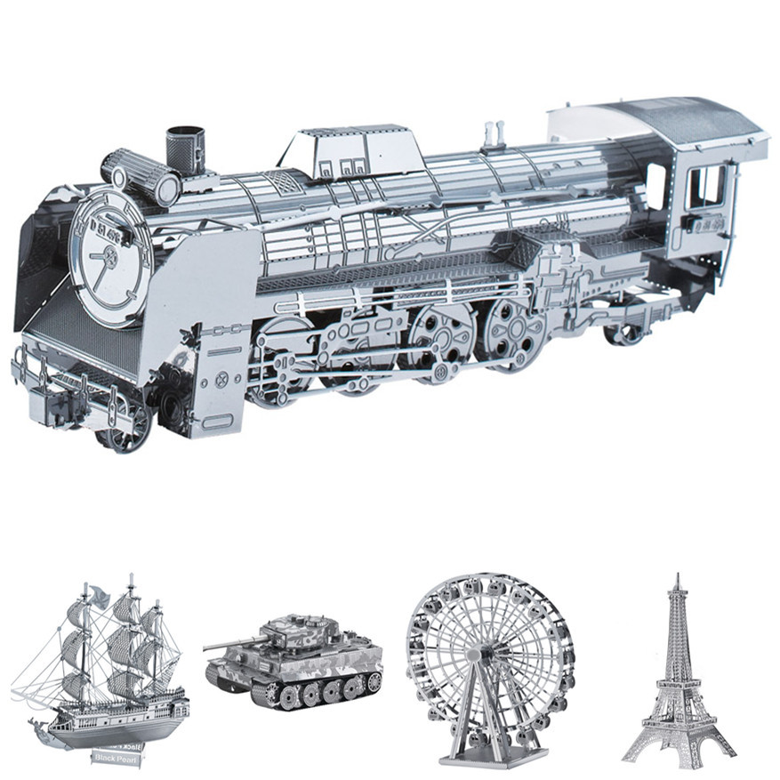 5pcs/lot forge world 3D Jigsaw personalized metal works Train Tank ship puzzle Model Kit(China (Mainland))