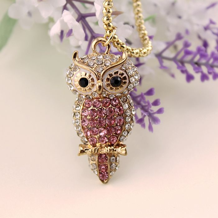 Fashion necklace 2014 new bi long full drill owl pendant accessories, 140813 - jewelry shop paradise store