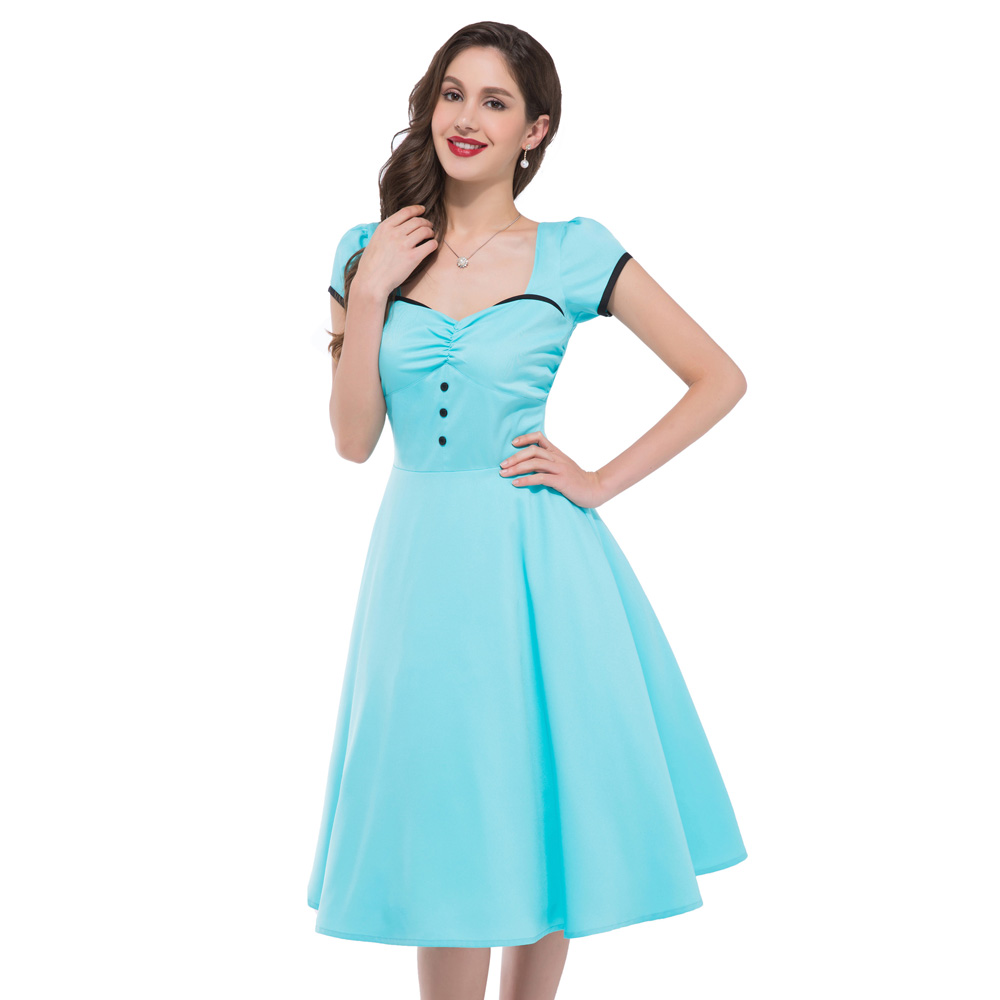 Creative MUXXN Women39s 1950s Retro Vintage Cap Sleeve Party Swing