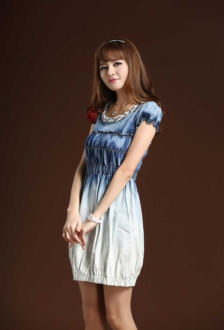 Denim dresses are loved, not only for their wide selection of styles and colors, but also because the denim becomes softer each time it is washed. Denim dresses are easy to care for, comfortable to wear, and are also noted for their rugged durability.