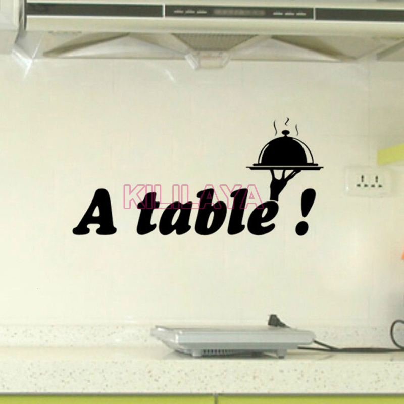 Popular table text buy cheap table text lots from china for Decor mural cuisine