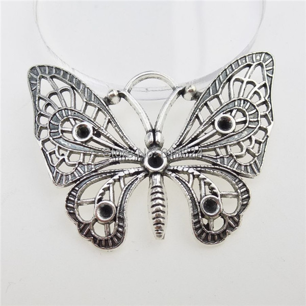 (10 pieces/lot) 12795 Alloy Antique Silver Tone Insects Butterfly Pendant Jewelry Making - jewelry style store