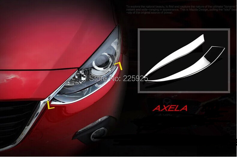 ABS Chrome Front Light Head Lamp Cover Trim 2014 Mazda 3 AXELA - Top-parts's store