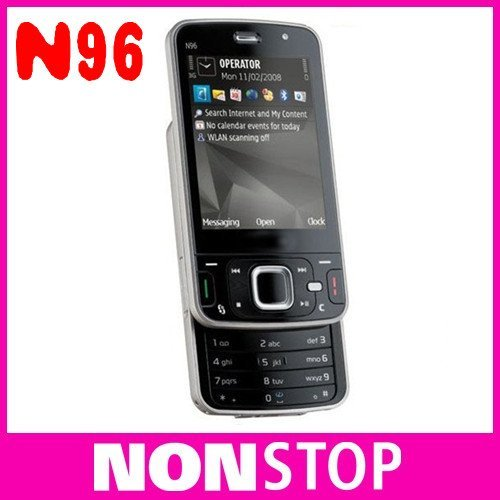 n96 Original Nokia N96 Mobile Phones 3G WIFI GPS Unlock Cell Phones 16GB internal Memory In Stock