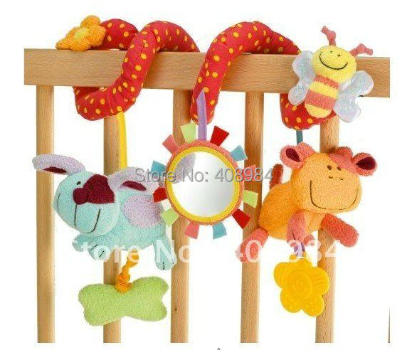 infant Toys Baby crib revolves around bed stroller playing toy car lathe hanging baby rattles Mobile - honestycentre store