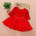 Retail free shipping new summer casual High grade pure white bowknot princess dress baby girls dress