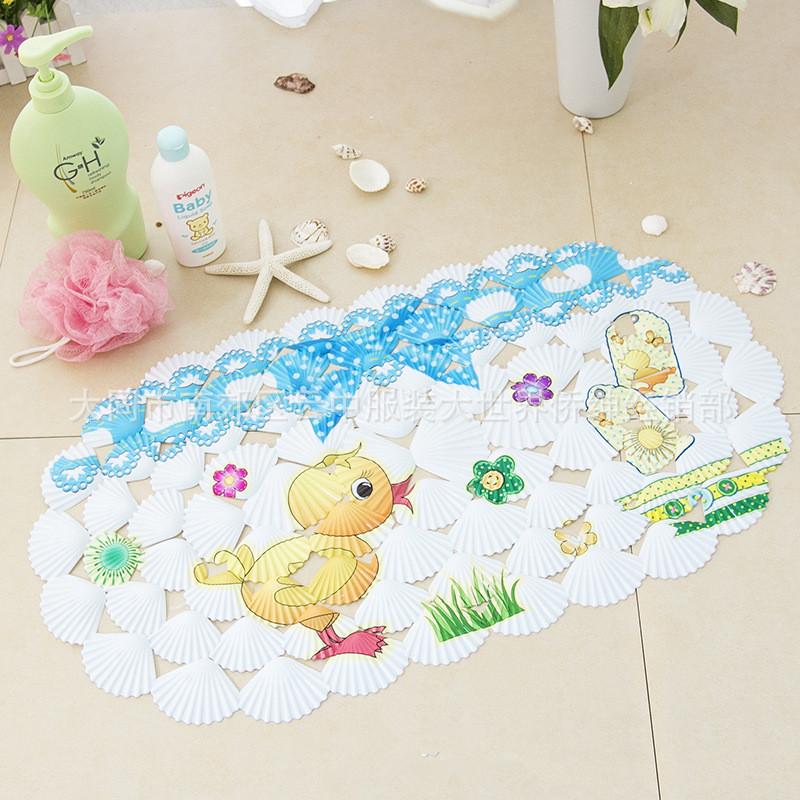 Duck Bath Mat 39x69cm Bathroom Non Slip PVC Rubber Suction Shower Antiskid Pad - Ugift Beauty Home Decorations : store:):))