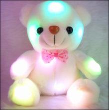 New Colorful stuffed toys soft toys bears luminous white lovely Bear toys Dazzling Lights birthday gift girls flashing gifts(China (Mainland))
