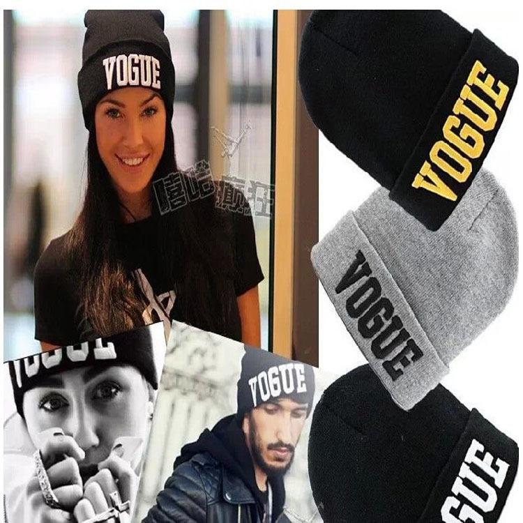 2014 New Brand Fashion VOGUE Beanies Man Women Woolen Knitted Hat Sport Cap Warm Hats Autumn Winter - bunny xie fashion items store