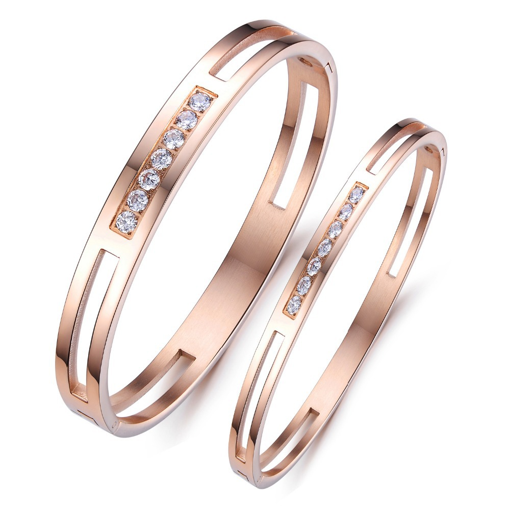 2015 Sale Indian Jewelry Bracelets Bangles New Accessories Rose Vendors Recommend Couple Bracelet Gh695 Steel  -  kiki fashion jewelry ( worldwide store)
