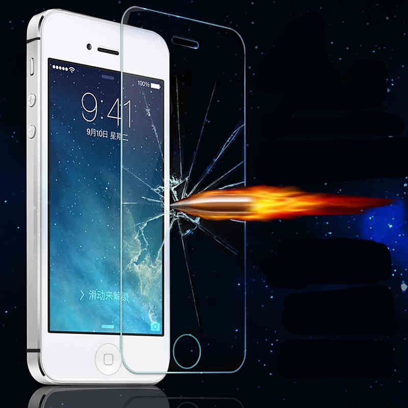 Front Explosion-Proof Anti Shatter Tempered Glass Screen Protector For apple iphone 4 4s / 5 5s SE / 5c / 6 6s / 6s Plus(China (Mainland))