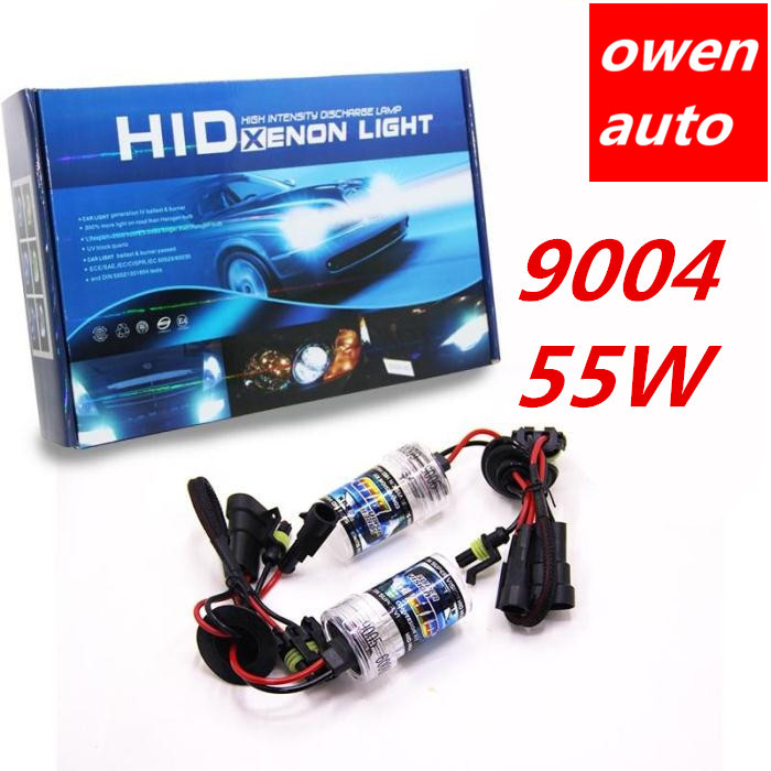 a set car xenon 9004 HID headlight lamp bulbs bulb 55W 12V 4300K 6000K 8000K distant and near light super bright free shipping<br><br>Aliexpress