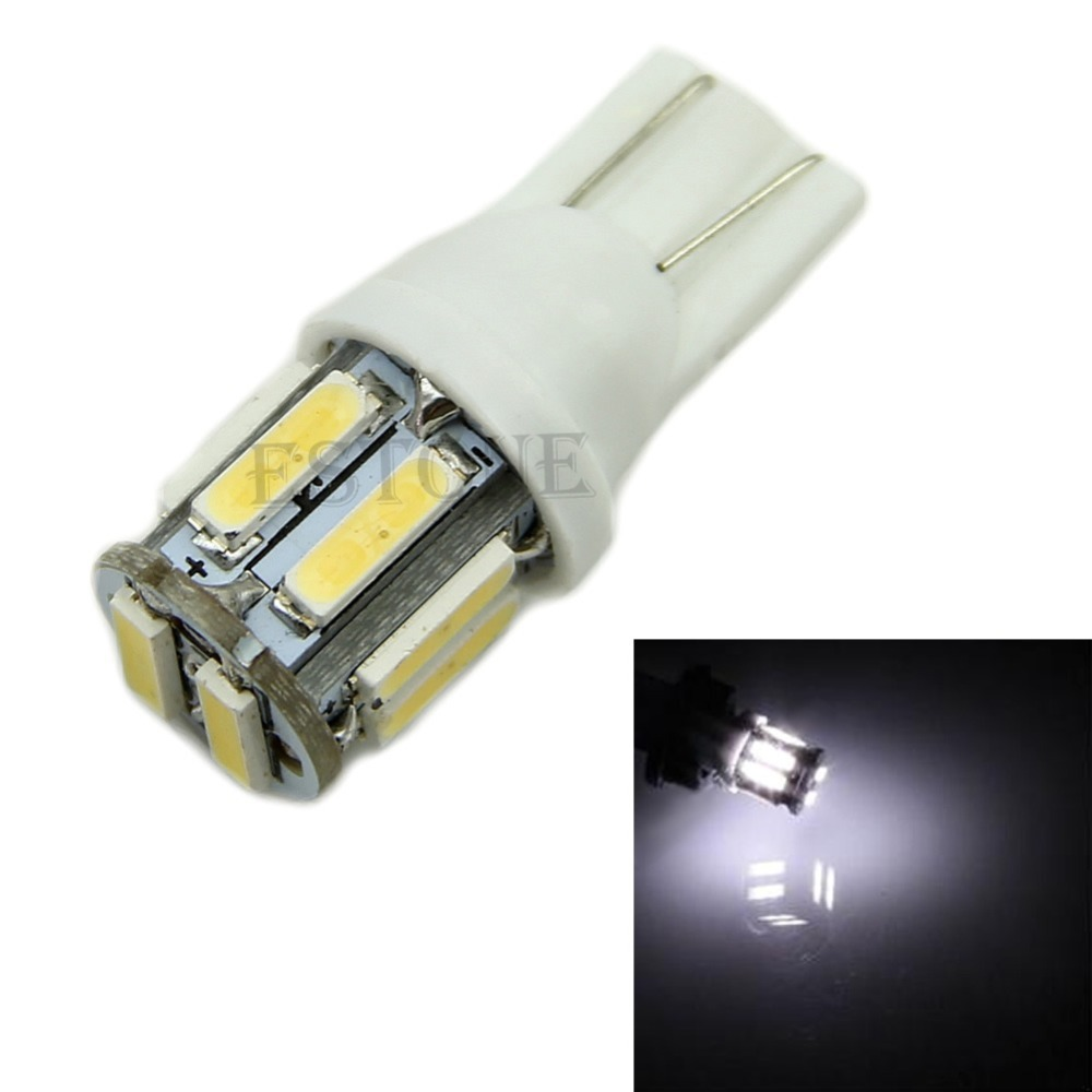 Free Shipping 1pc for Car 10 LED 7020 SMD T10 W5W Wedge Side Light Bulb Lamp<br><br>Aliexpress