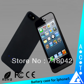 New model 2800 mAh free shipping smartphone power case for iphone 5 use with CE RoHS FCC approved