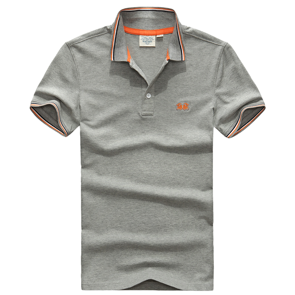 Summer men solid polo shirt collar short sleeve plus size for Plus size golf polo shirts