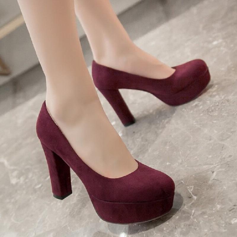 big size 33 43 fashion ladies office heels pumps concicse. Black Bedroom Furniture Sets. Home Design Ideas