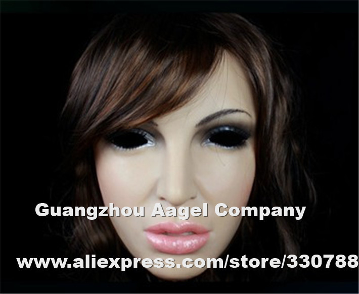 silicone face mask, full party mask masquerade masks, realistic female masks crossdresser, halloween - Guangzhou Angel Company store