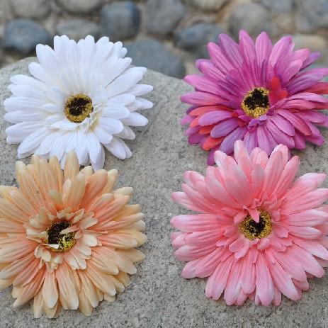 10cm Gerbera Jamesonii African Daisy Fabric Flower Heads Artificial Flowers Head Wedding Decoration Free Shipping(30pcs/lot)(China (Mainland))
