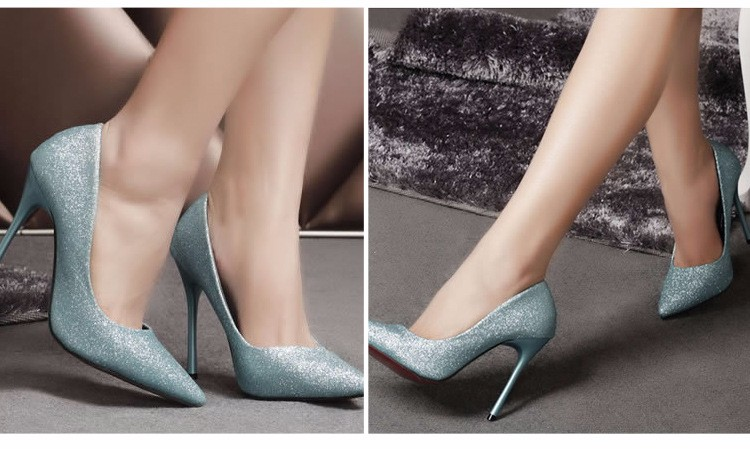 2016 New Spring Summer Retro Thin High Heel Women Shoes Pumps Patent Leather Slip On Platform Single Shoes Plus Size 40 ZM3.0