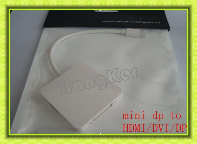 WHOLESALE !3 IN 1 mini dp to HDMI,DVI,DP  mini dp to combo cables converter adapter  3PCS/LOT FREE SHIPPING