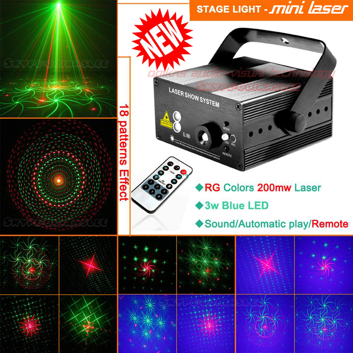 Event party supplies Disco Light laser 18Patterns Stage Effect rgb projector birthday decoracao machine - Jimaudio00 Pro-light Equipment company store