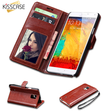 Buy KISSCASE Vintage Crazy Horse Skins PU Leather Case Samsung Galaxy Note 4 N9100 Stand Card Slots Wallet Cover Note 4 Cases for $3.19 in AliExpress store