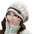 Women s Fashion Braided Autumn Winter Warm Baggy Beanie Knit Crochet Ski Hat Cap