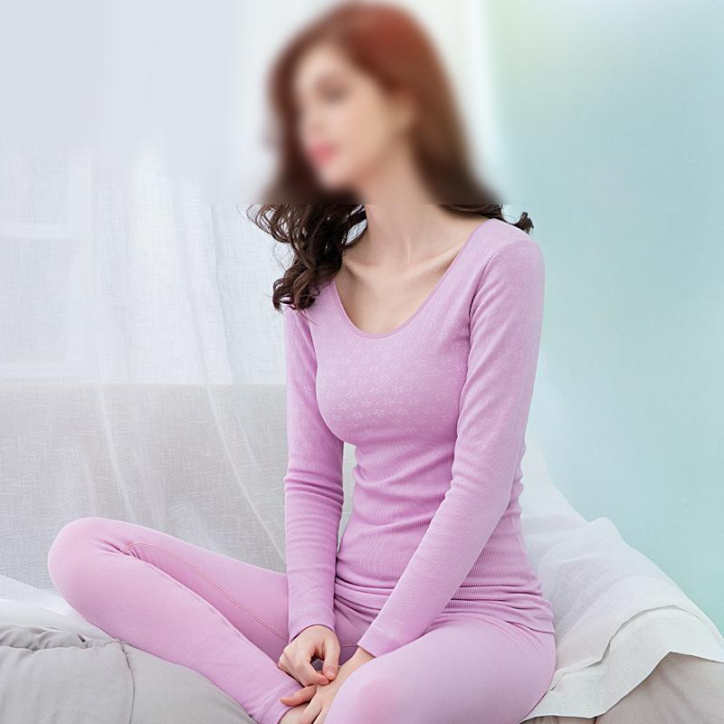 High Quality Thermal Underwear Women's Seamless Cotton Body Suit O-neck Winter Warm Tight Slim Long Johns Shapewear Warm Wear