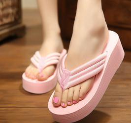 Women Wedgs Slippers Summer high slope with herringbone slippers manufacturers selling Ladies Women's platform Flip Flops(China (Mainland))