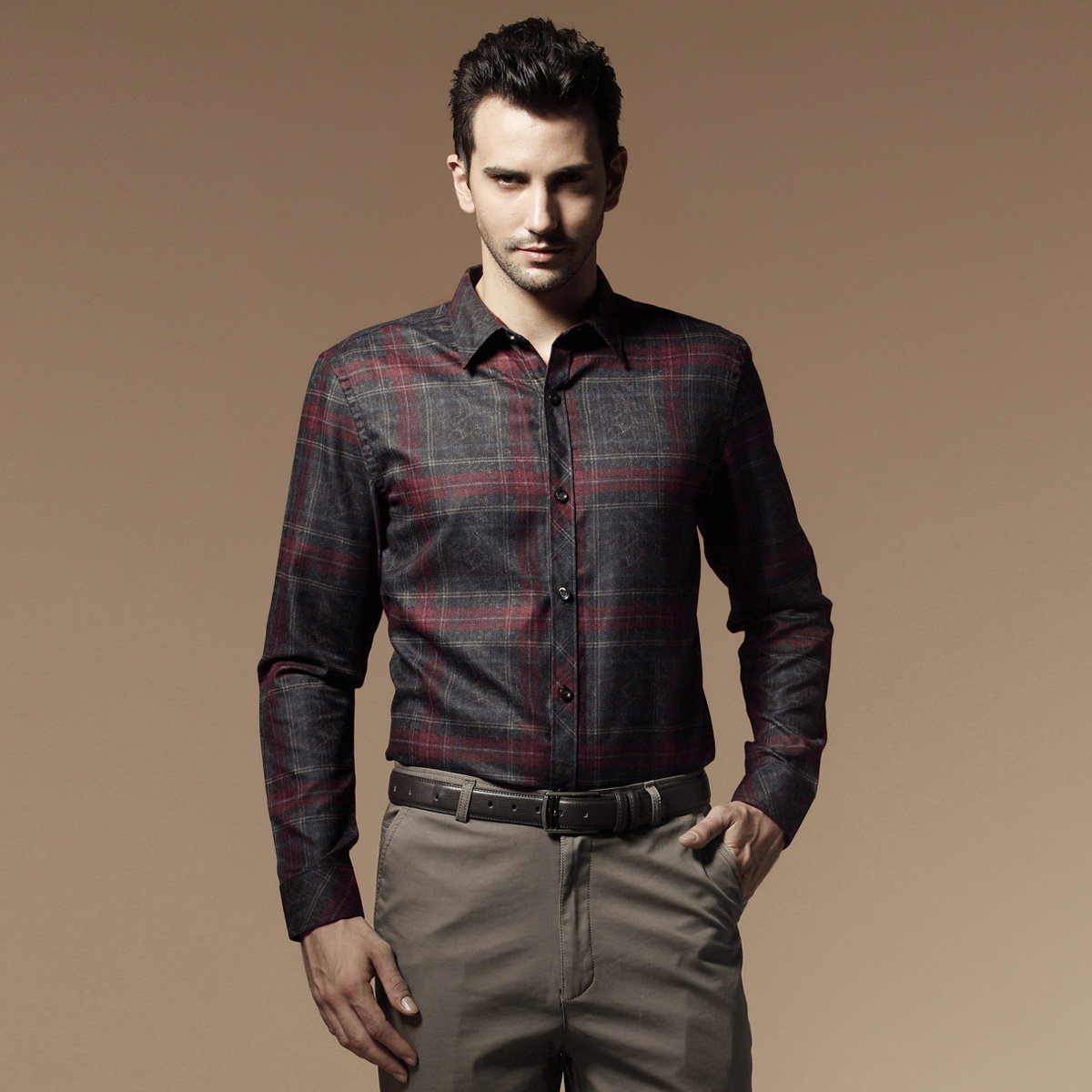 Male shirt long-sleeve business casual men's clothing - Online Store 737589 store