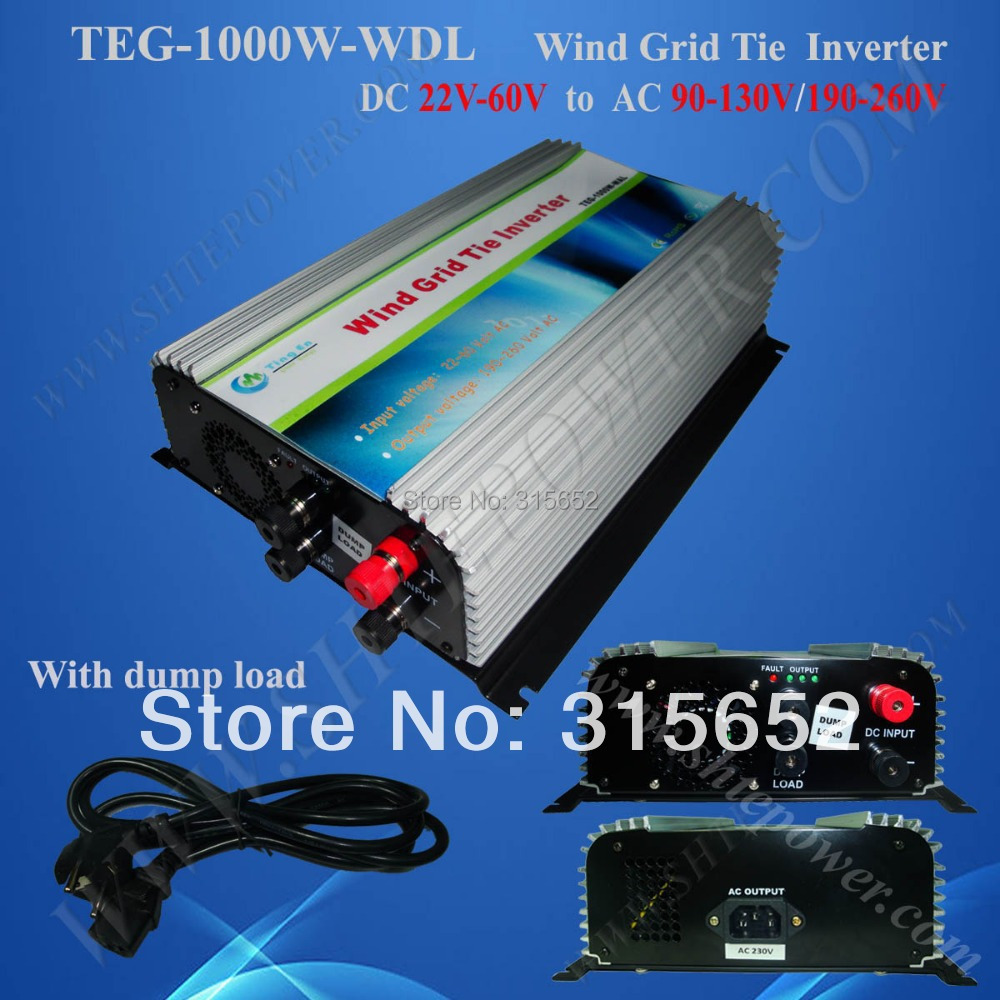 DC to AC 22V-60V 1000W Grid Tie Wind Power Inverter(China (Mainland))