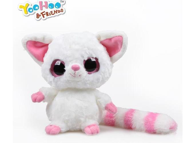 """Yoohoo & Друзья TY Большие Глаза Симпатичные Ткань Кукла плюшевые игрушки (fennec fox)-5 """"Pammee, бесплатная доставка, куклы, плюшевые игрушки, Подарок для Детей"""