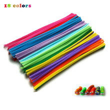 Creative Arts Chenille Stem Class Pack Rainbow Colors Kids Pipe Cleaners Plush stick DIY Handcrafted craft material