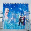 New European Frozen White Snow and Hans Cartoon 3D Printing Curtains 98 Blackout Top Children s