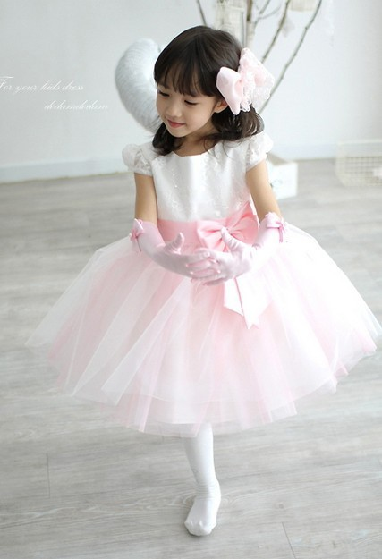 50% OFF! 2014 new girl's princess wedding dress female Children's one-piece baby girl year party ball flower - Super-Mom store
