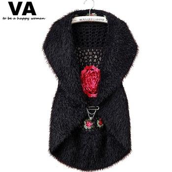 outono mulheres flor de crochê capa de manga comprida camisola para