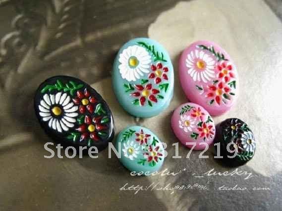 Hot Selling~!! 8*10mm Europe Flat back resin flower,Resin pendant flower,resin cabochon,vintage plastic 100pcs(China (Mainland))