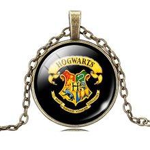 Harry Potter pendant necklace art picture glass cabochon vintage necklace statement necklace jewelry fashion women 2015